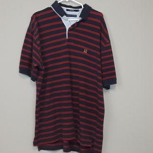 Tommy Hilfiger striped polo shirt men's XL